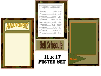 Camouflage Bulletin Board Poster Set