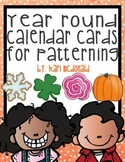 Year Round Calendar Patterning Cards: With Seasonal Themes for Each Month