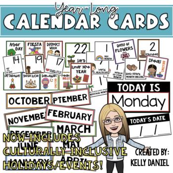 Year-Round Classroom Calendar Cards