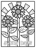 Year Round Coloring Pages - Spring, Summer, Fall, Winter!