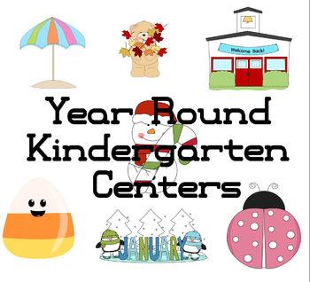 Year Round Kindergarten Centers Bundle (Common Core aligned)