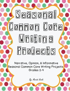 Seasonal Common Core Writing Bundle - Grades 2-4