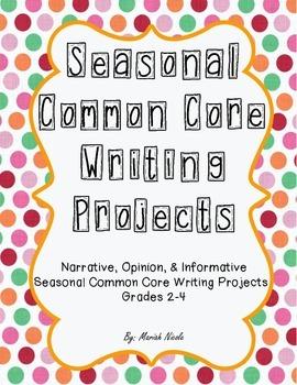 Seasonal Common Core Writing Bundle - Grades 2-4
