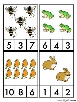 Seasonal Count and Clip Card Bundle Numbers 1-10