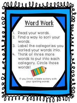 Year-Round Differentiated WORD WORK!