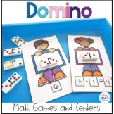Kindergarten Math Games and Centers with Dominos