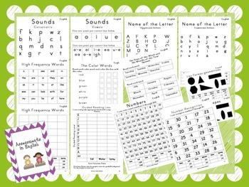 Year Round Spanish and English Kindergarten  Assessment Packet