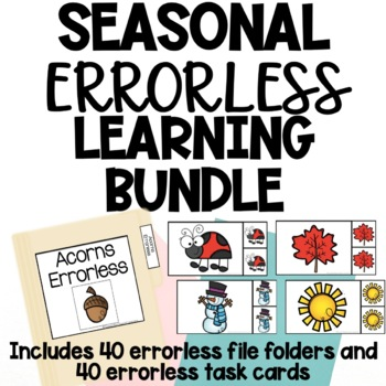 Year Round Errorless Activities - 40 File Folders + 40 Task Cards