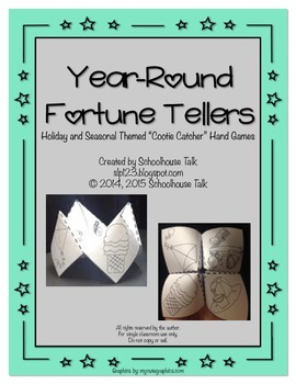 Year-Round Fortune Tellers {cootie catcher hand games}