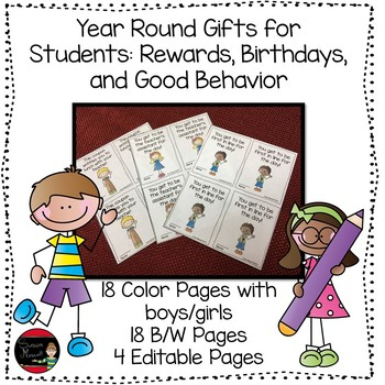 Student Reward Coupons: Good Behavior, Birthdays, and More