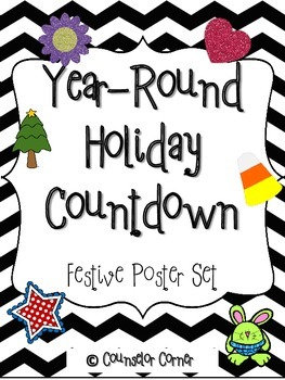 Year-round Holiday Countdown Poster Set