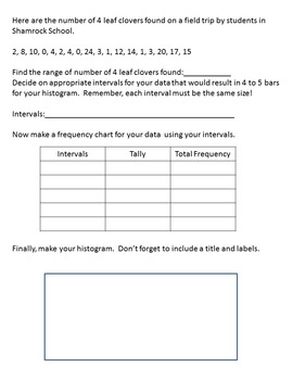Year Round Holiday Histogram Bundle (Worksheets Only)