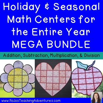 Year Round Holiday Math Activities | Holiday Math Centers | Holiday Math Games