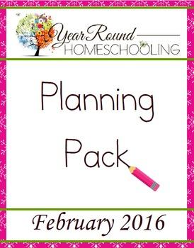 Year Round Homeschooling February 2016 Planning Pack
