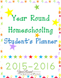 Year Round Homeschooling Student's Planner