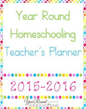 Year Round Homeschooling Teacher's Planner