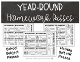 Year Round Homework Passes