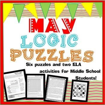 Year Round Logic Puzzle Bundle for Middle School!