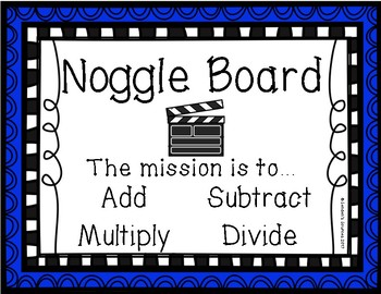 Year Round Math Boggle Board Center