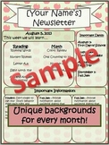 Year-Round Monthly Newsletter Template