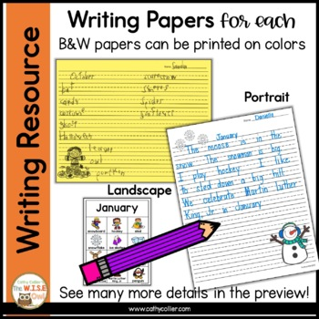 Year Round Monthly Writing Posters