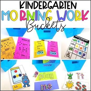 Year Round Kindergarten Morning Work Tubs and Buckets Growing Bundle