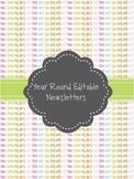 Year Round Newsletter Templates