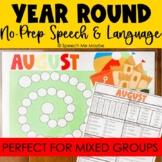 Year Round No Prep Speech and Language Activities
