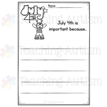 Year Round No Prep Writing Prompt Worksheets