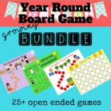 Year Round Open Ended Board Game Growing Bundle Speech Teletherapy