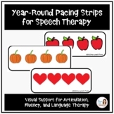 Holiday and Seasonal Pacing Boards for Speech Therapy