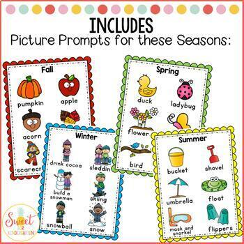 Holiday & Seasonal Picture Prompts with Writing Templates
