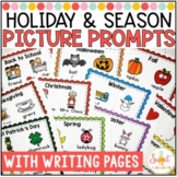 Holiday and Seasonal Picture Prompts with Writing Templates