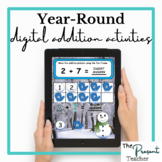 Year-Round Primary Digital Google Slides Addition Activity