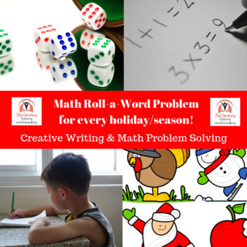 Year Round Roll-a-Math Word Problem Stories!
