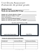 Year Round Spanish and English 1st Grade Assessment Packet