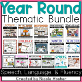 Year Round Speech Language and Fluency Activities for Speech Therapy
