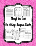 Year Round Student Test and Writing Pages