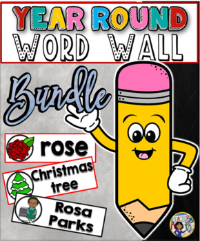 Year Round Vocabulary Word Walls Mega Pack