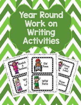 Year Round Work on Writing Activities