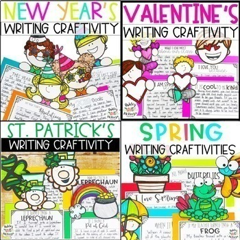 Holidays & Seasons Writing Craftivities Bundle