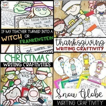 Seasonal Writing Craftivities For the WHOLE YEAR!