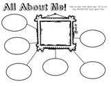 Year Start 'All About Me' Bubble Map