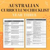 Year Three - Australian Curriculum Checklist