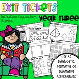 Year Three Math Exit Tickets - Australian Curriculum Align
