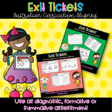 Year Three and Year Four Math Exit Tickets - Australian Curriculum Aligned