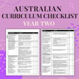 Year Two - Australian Curriculum Checklist