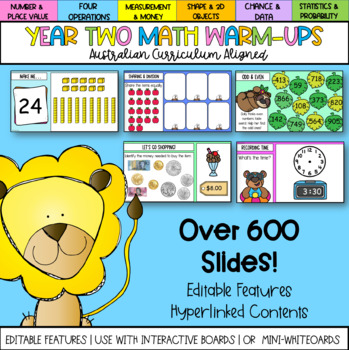 Year Two Math Warm-ups Australian Curriculum Aligned