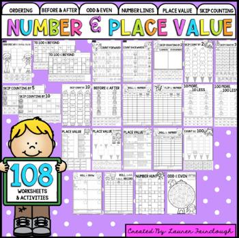 Year Two Number and Algebra Worksheet Mega Pack