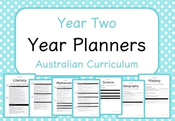 Year Two - Year Planners BUNDLE! (Australian Curriculum)